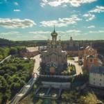 Вид Голосеевского монастыря